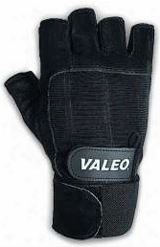 Valeo Performance Wrist Wrap Lifting Gloves - Black Small