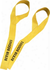 Better Bodies Leather Lifting Straps - One Size Yellow