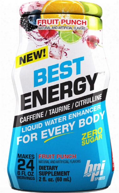 Bpi Sports Best Energy Liquid Water Enhancer - 6 Pack (24sv Per Bottle