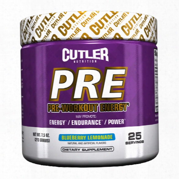 Cutler Nutrition Pre - 25 Servings Fruit Punch