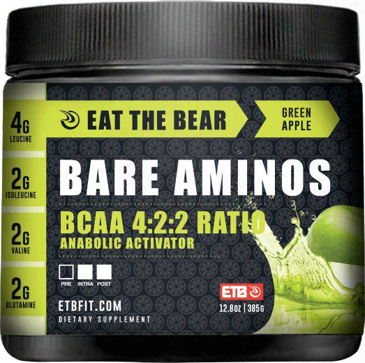 Eat The Bear Bare Aminos - 30 Servings Green Apple