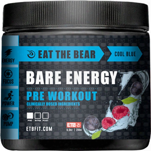 Eat The Bear Bare Energy - 30 Servings Cool Blue