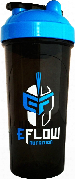 Eflow Nutrition Shaker Bottle - 24oz Black/blue