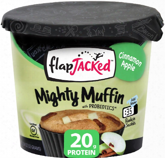 Flapjacked Mighty Muffin - 12 Muffins Cinnamon Apple