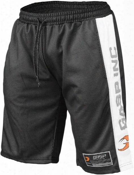 Gasp No1 Mesh Shorts - Black/white Medium
