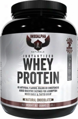 Imsoalpha Instantized Whey Protein - 2lbs Natural Chocolate