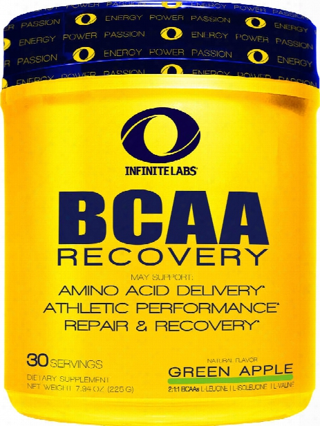 Infinite Labs Bcaa Recovery - 30 Servings Green Apple