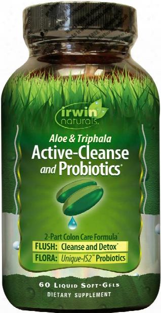 Irwin Naturals Active-cleanse And Probiotics - 60 Softgels