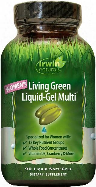 Irwin Naturals Living Green Multi For Women - 90 Softgels
