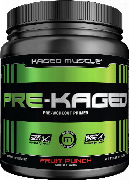 Kaged Muscle Pre-kaged - 20 Servings Fruit Punch
