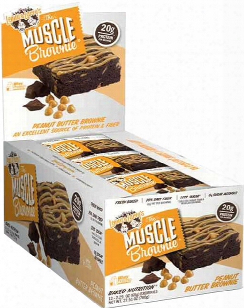 Lenny & Larry's Muscle Brownie - Box Of 12 Peanut Butter Brownie