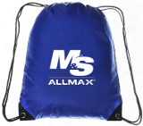 M&s Allmax Drawstring Bag - 1 Blue Bag M&s/allmax
