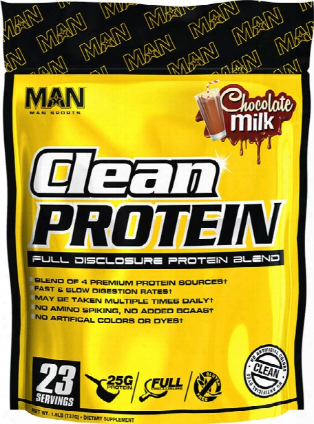 Man Sports Clean Protein - 2lbs Chocolate Milk