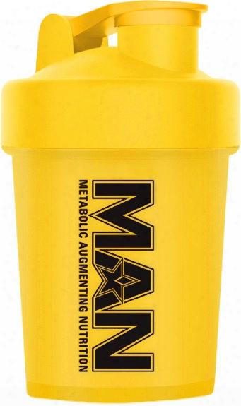 Man Sports Shorty Shaker - 16oz Yellow