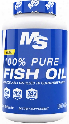 Muscle & Strength 100% Pure Fish Oil - 180 Softgels