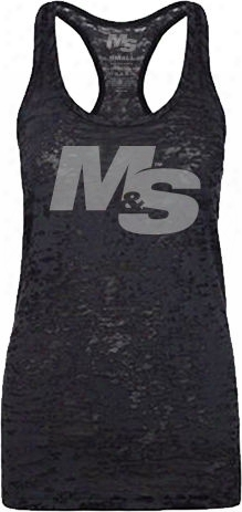Muscle & Strength Wwomen's Spinal Burnout Tank - Black Xsmall