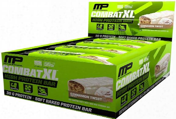 Musclepharm Combatx L Bars - Box Of 12 Cinnamon Twist