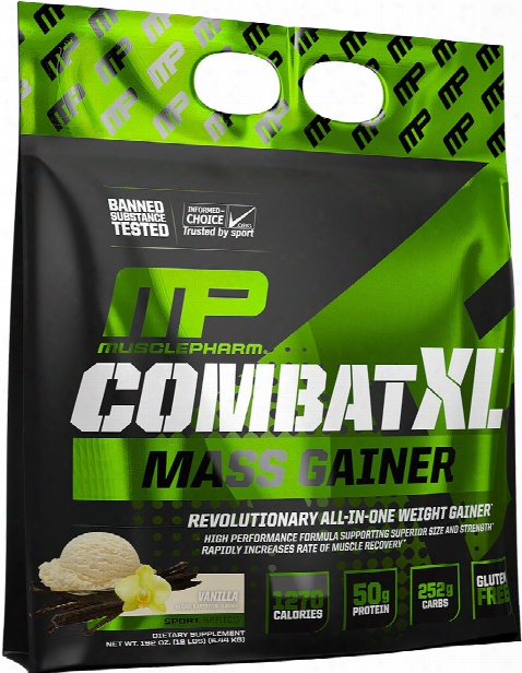 Musclepharm Combat Xl Mass Gainer - 12lbs Vanilla