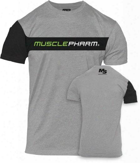 Musclepharm Contrast Sleeve T-shirt - Grey Medium