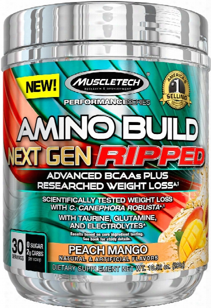 Muscletech Amino Build Next Gen Ripped - 30 Servings Peach Mango