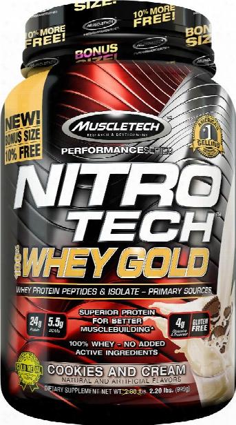 Muscletech Nitro-tech 100% Whey Gold - 2.2lbs Cookies & Cream