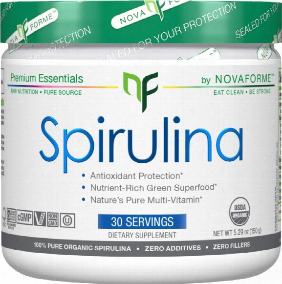 Novaforme Spirulina Powder - 30 Servings Unflavored