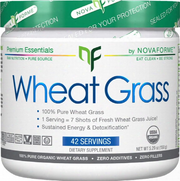 Novaforme Wheat Grass Powder - 42 Servings Unflavored