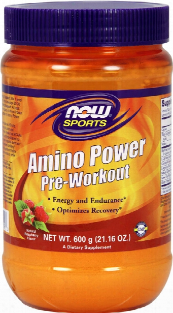 Now Foods Amino Power Pre-workout - 35 Servings Fruit Punch