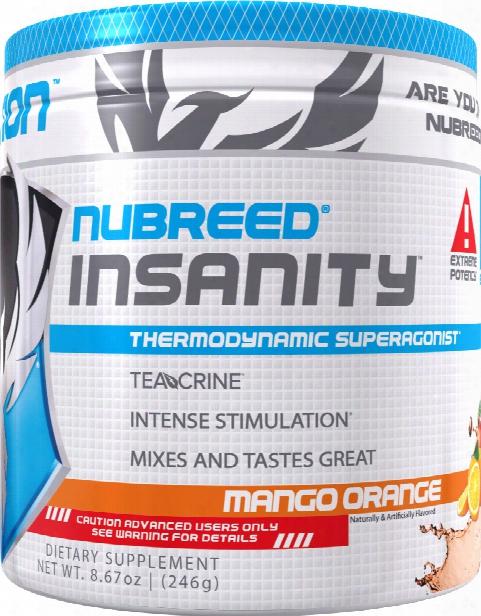Nubreed Nutrition Insanity Powder - 40 Servings Mango Orange