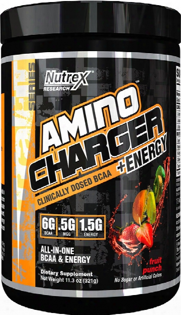 Nutrex Amino Charger Plus Energy - 30 Servings Fruit Punch