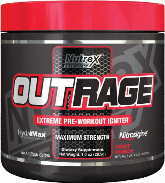 Nutrex Outrage - 5 Servings Fruit Punch