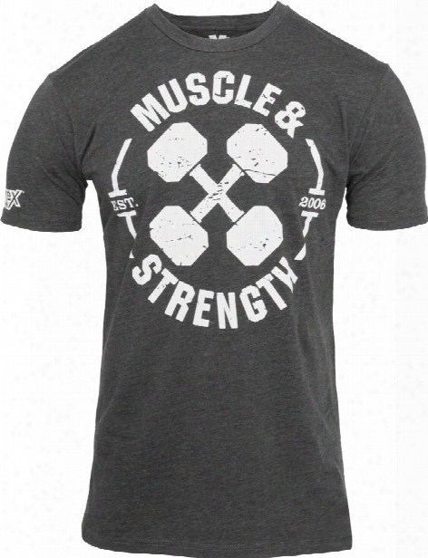 "Nutrex ""dumbbell X"" T-shirt - Charcoal Medium"