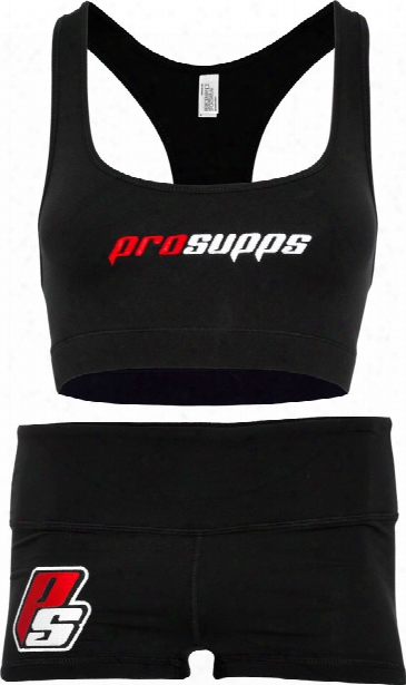 Prosupps Fitness Gear Sports Bra & Shorts - Black Xs