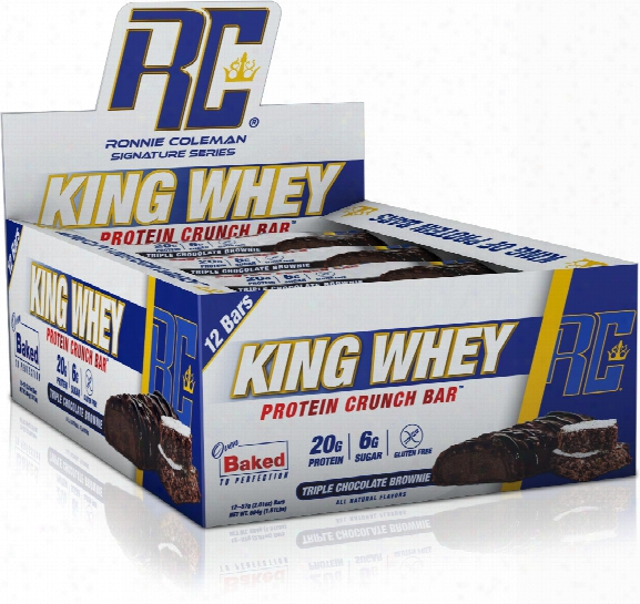 Ronnie Coleman Signature Series King Whey Protein Crunch Bar - Box Of
