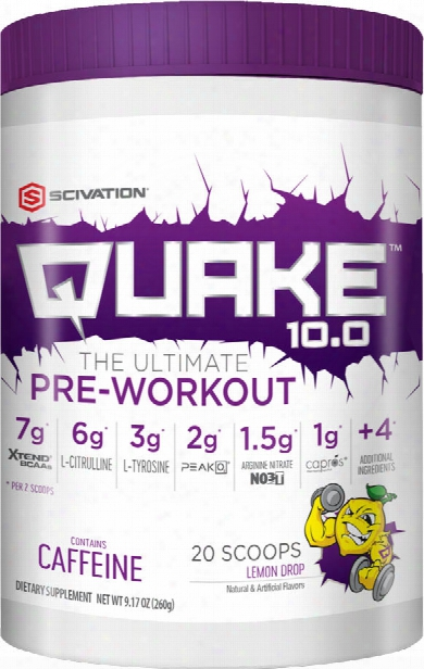 Scivation Quake 10.0 - 20 Servings Lemon Drop