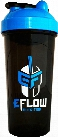 eFlow Nutrition Shaker Bottle - 24oz Black/Blue