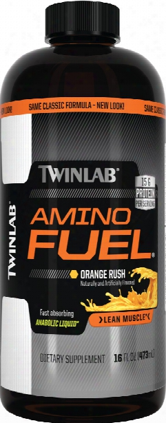 Twinlab Amino Fuel Liquid - 32oz Orange Rush