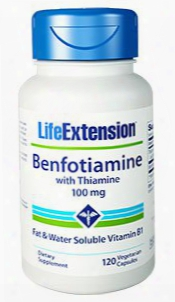 Benfotiamine With Thiamine, 100 Mg, 120 Vegetarian Capsules
