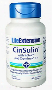 Cinsulinâ® With Insea2â® And Crominexâ® 3+, 90 Vegetarian Capsules