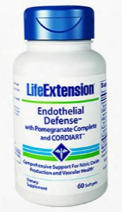 "Endothelial Defenseâ""¢ With Pomegranate Complete And Cordiartâ""¢, 60 Softgels"