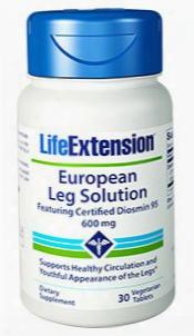 European Leg Solution Featuring Certified Diosmin 95, 600 Mg, 30 Vegetarian Tablets