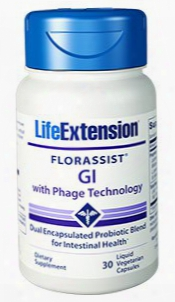 Florassistâ® Gi With Phage Technology, 30 Liquid Vegetarian Capsules