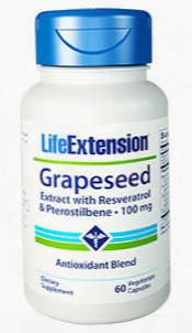 Grapeseed Extract Wi Th Resveratrol & Pterostilbene, 100 Mg, 60 Vegetarian Capsules