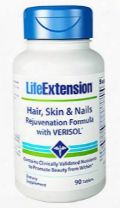 Hair, Skin & Nails Rejuvenation Formula With Verisolâ®, 90 Tablets