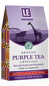 Kenyan Purple Tea Crystals, 14 Stic Packs, 14 G (0.5 Oz)