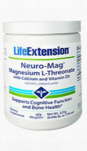 Neuro-magâ® Magnesium L-threonate With Calcium And Vitamin D3, 225 G (0.496 Lb. Or 7.94 Oz)
