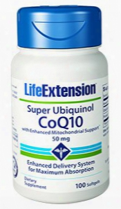 "Super Ubiquinol Coq10 With Enhanced Mitochondrial Supportâ""¢, 50 Mg, 100 Softgels"