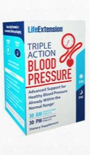 Triple Action Blood Pressure, 30 Am Vegetarian Tablets, 30 Pm Vegetarian Tablets
