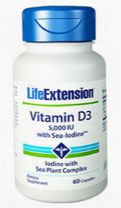 "Vitamin D3 With Sea-iodineâ""¢, 5,000 Iu, 60 Capsules"