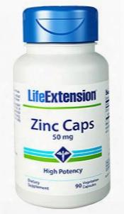 Zinc Caps, 50 Mg, 90 Vegetarian Capsules
